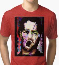 Kick The Man, Break The Boy. Tri-blend T-Shirt