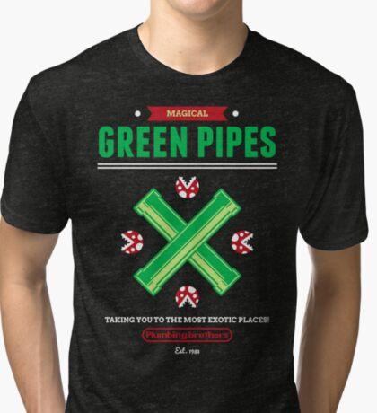 Green Pipes Tri-blend T-Shirt