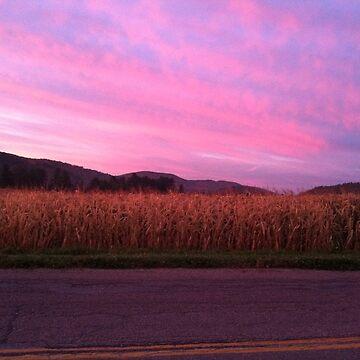 Sunrise over Corn by Rystall
