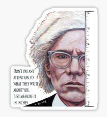 Advice from Warhol Sticker