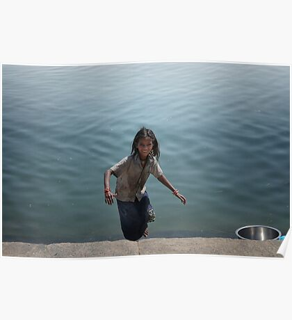 the girl who leapt up from the ghats  Poster