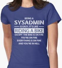 Being a SYSADMIN Womens Fitted T-Shirt