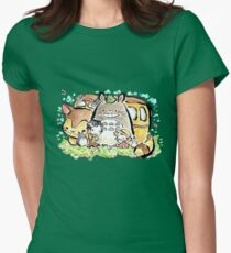 Totoro Womens Fitted T-Shirt