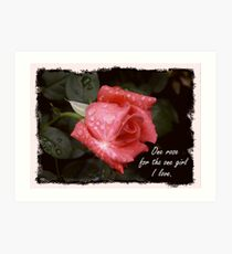 One Rose Art Print