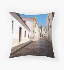 Portuguese Streets Throw Pillow