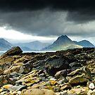 Elgol, Looking across the sea towards the Cuillins, Isle of Skye, Scotland by Iain MacLean