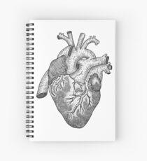 Anatomical Heart Ink Illustration Spiral Notebook