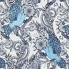 Flight of Fancy - navy, blue, grey by micklyn