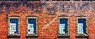 Brick Windows by Bill Wetmore