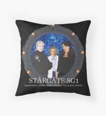 The Women of Stargate SG1 Throw Pillow