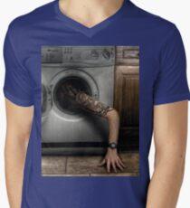 Lazy Washing Mens V-Neck T-Shirt