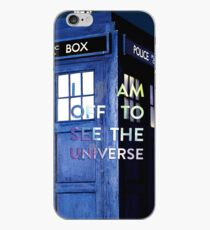 WARNING! Off to see the universe w/doctor iPhone Case