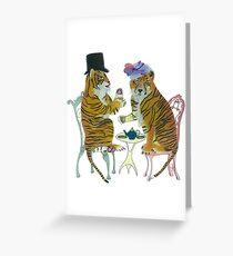 Tiger Tea Greeting Card