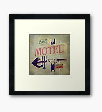 Carl's Motel Framed Print
