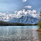 Two Jack Lake & Rundle Mountain by Vickie Emms