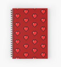 Heart - Minecraft Spiral Notebook