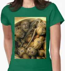 We're all nuts #1 Womens Fitted T-Shirt
