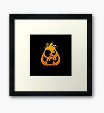 Pumpkin Goofy Framed Print