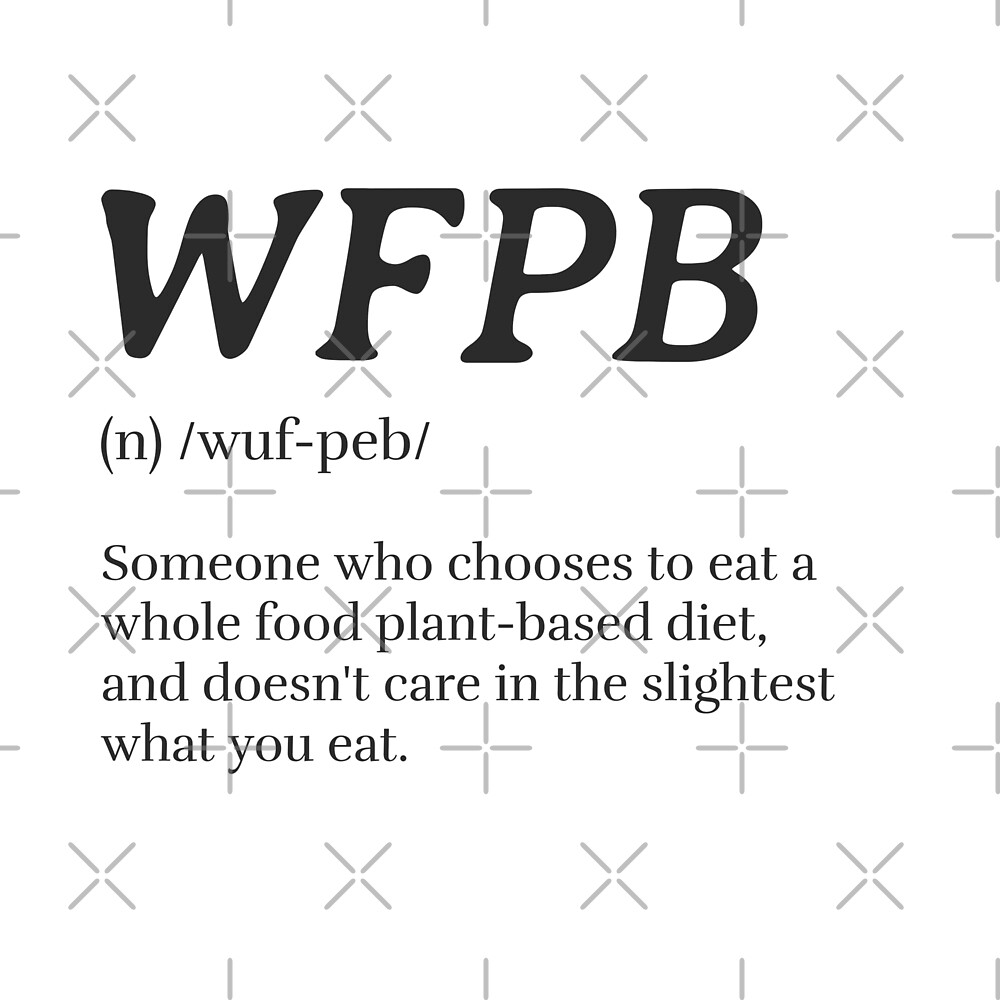 WFPB Definition (Whole Food Plant Based) by Sweevy Swag