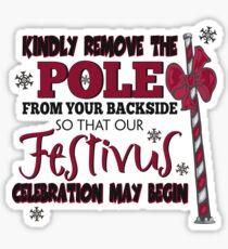 Seinfeld Inspired - Celebrate Festivus - Costanza Holiday Festivus - Merry Christmas - Festivus Pole Holidays - Parody Sticker