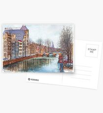 Amsterdam at Christmas time Postcards