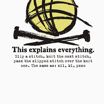 Funny knitting needles ball of yarn jargon by BigMRanch