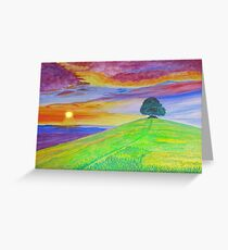 Sunset Of The Summer Sky Greeting Card