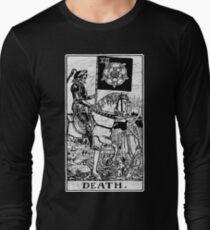 Death Tarot Card - Major Arcana - fortune telling - occult Long Sleeve T-Shirt