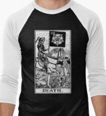 Death Tarot Card - Major Arcana - fortune telling - occult Men's Baseball ¾ T-Shirt