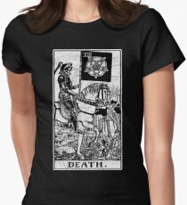 Death Tarot Card - Major Arcana - fortune telling - occult Women's Fitted T-Shirt