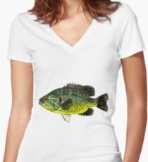Warmouth Sunfish Women's Fitted V-Neck T-Shirt