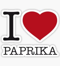 I ♥ PAPRIKA Sticker