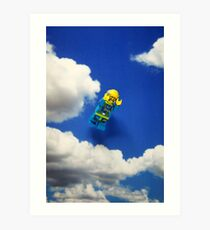 Extreme sports - Skydiving. Art Print