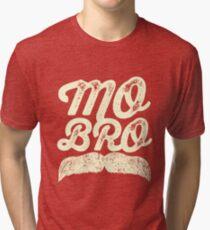 MOVEMBER - Mo Bro White Tri-blend T-Shirt
