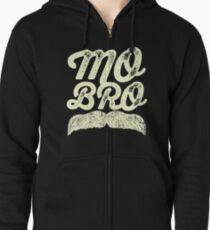 MOVEMBER - Mo Bro White Zipped Hoodie
