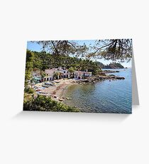 Fishermen's cottages. Greeting Card
