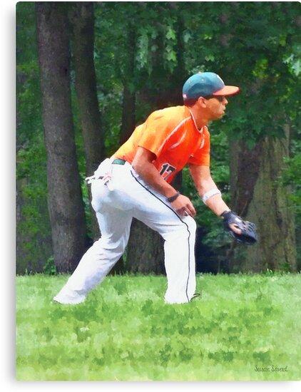 Baseball - Warming Up Before the Game by Susan Savad