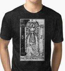 The High Priestess Tarot Card - Major Arcana - fortune telling - occult Tri-blend T-Shirt