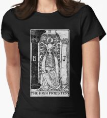 The High Priestess Tarot Card - Major Arcana - fortune telling - occult Women's Fitted T-Shirt
