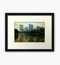 Hazy Milwaukee Framed Print