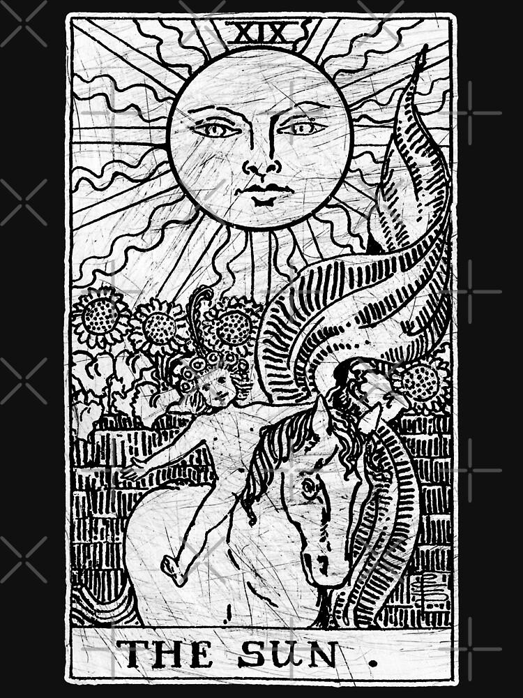 The Sun Tarot Card - Major Arcana - fortune telling - occult by createdezign