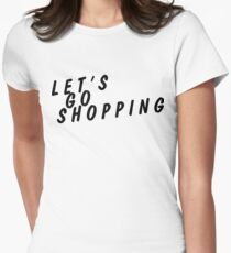 let's go shopping Women's Fitted T-Shirt