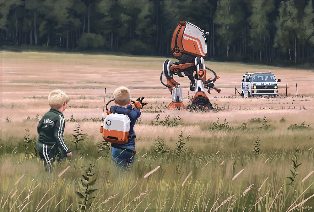 Fjärrhandske by Simon Stålenhag