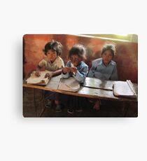 School children, Sarlahi, Nepal Canvas Print