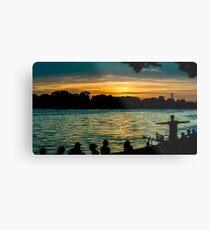 sunset at maschsee Metal Print