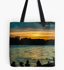 sunset at maschsee Tote Bag