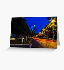 blue hour at friedrichswall (1) Greeting Card