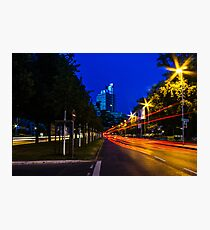blue hour at friedrichswall (1) Photographic Print