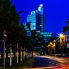 blue hour at friedrichswall (2) by dirk hinz