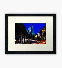 blue hour at friedrichswall (2) Framed Print